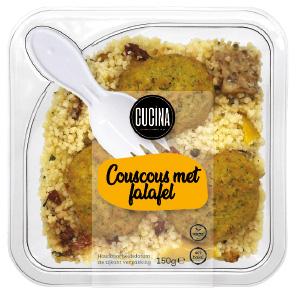 Couscous with falafel
